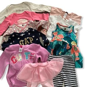 Baby Girl 6-12 Month Lot